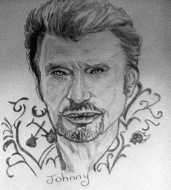 Portrait De Johnny Hallyday Par Fanfan Sur Stars Portraits 39